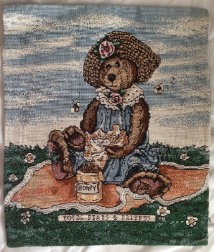 Boyd's BEARS & FRIENDS Tapestry JACQUARD WOVEN Wall Hanging Or Table Decoration (14