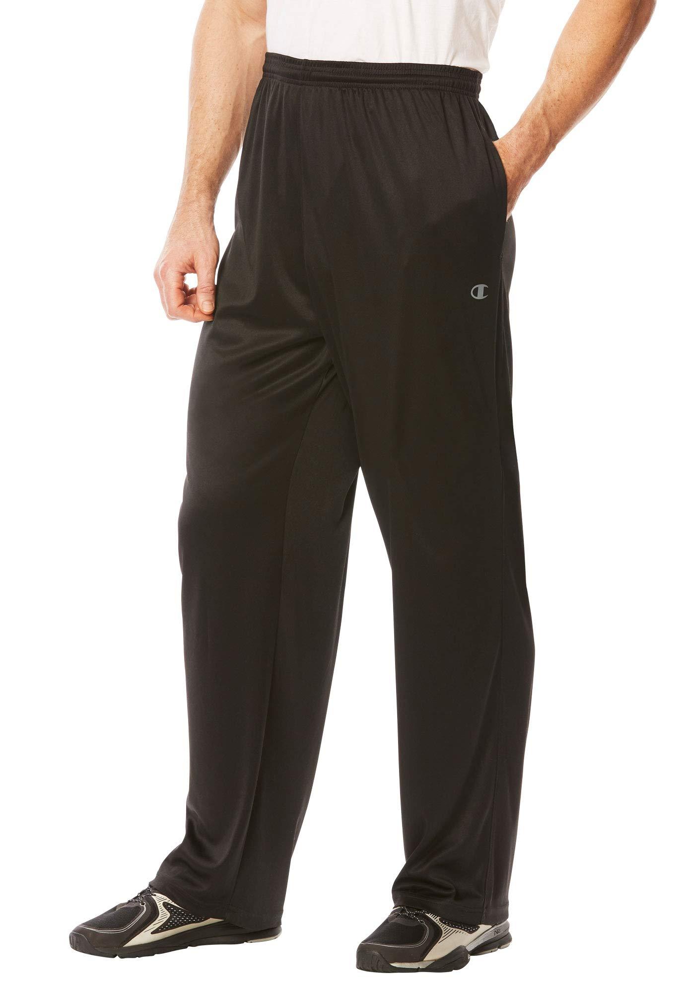 Champion Men's Big & Tall Performance Pants, Black