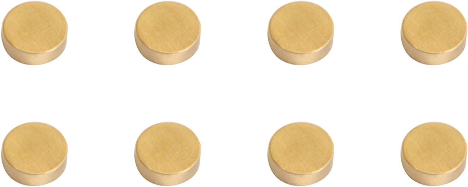 """Refrigerator Magnets, 0.6"""", Brass, Office Magnets,Whiteboard Magnets, 8 Pack,Cristmas Gift"""