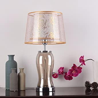 CJSHV-Lámpara de mesa Creativo Europeo De Dormitorio Lampara Velador Lampara De Cristal Caliente De Boda Moderno Minimalista Lámpara De Jardín,Golden: Amazon.es: Iluminación