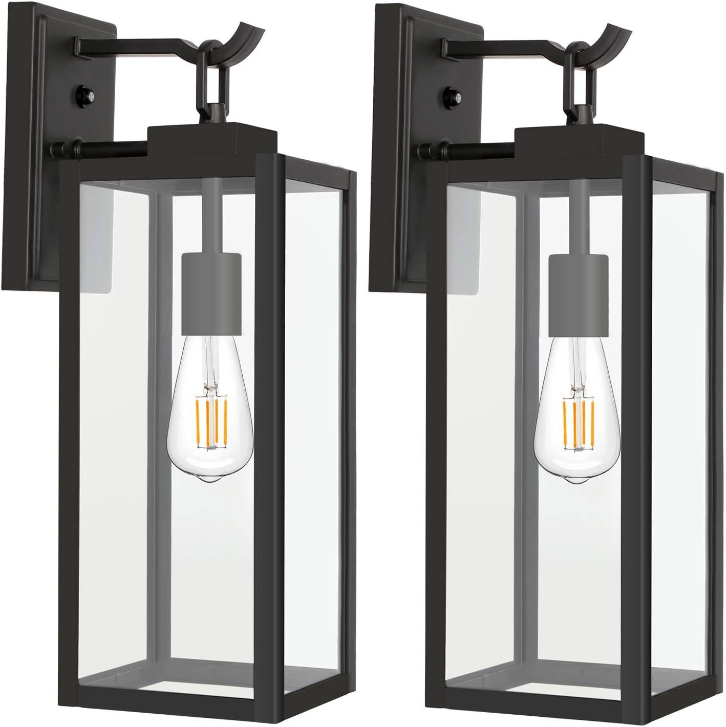 Solar Powered LED Outdoor Hallway Wall Light Automatic Porch Lamp Lantern