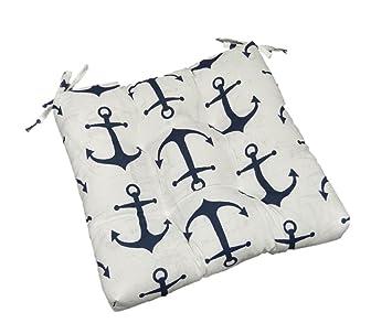Amazoncom Indoor Outdoor Navy Blue White Nautical Anchor