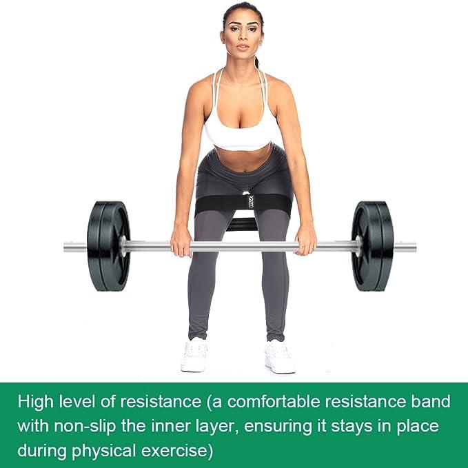 LWXJC - Bandas de resistencia para pesas para sentadillas. Banda de ejercicio de absorción de alta calidad ideal para caderas y glúteos.