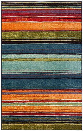 Mohawk Home New Wave Rainbow Striped Printed Area Rug 5