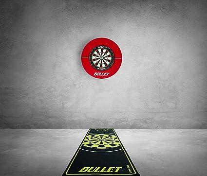 BULLET-Darts Grand set de fl/échettes tournoi 90 pi/èces Avec anneau de surround et tapis professionnel.