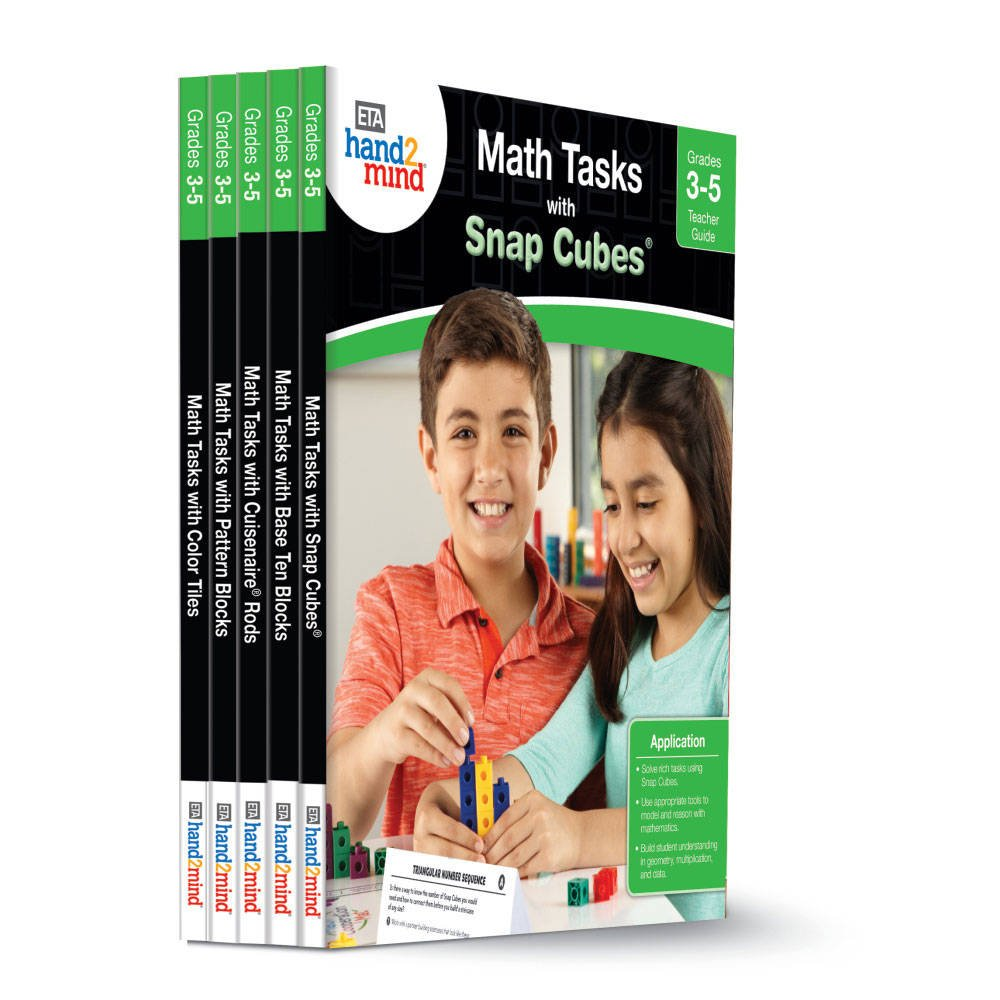 ETA hand2mind Math Tasks Library Books, Grades 3-5