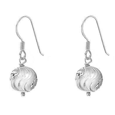 Tuscany Silver 10mm Ball Drop Earrings b8HigMK5od