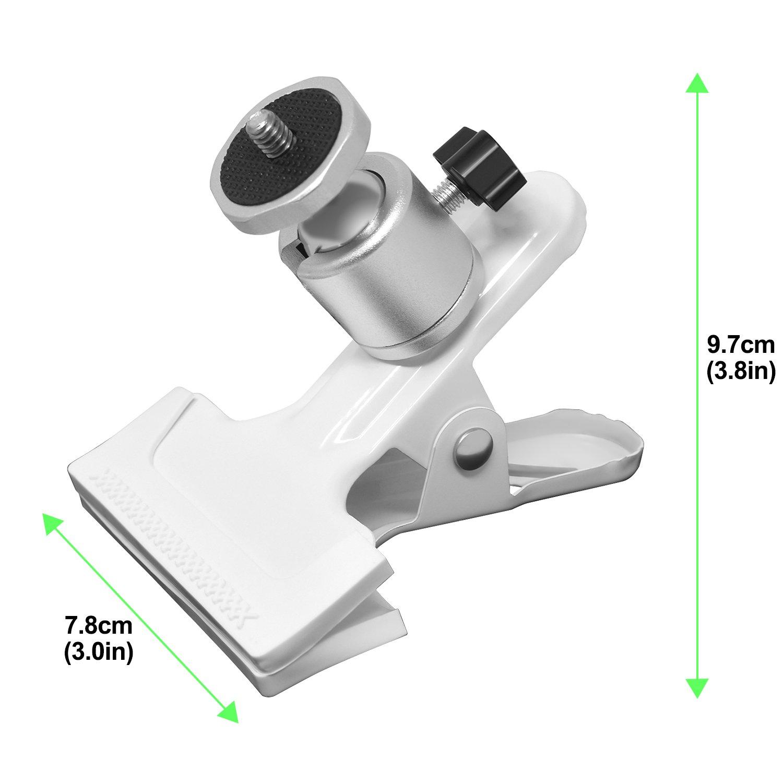 Webcam Negro HTC VE Arlo Pro Fyoung Pinza de Resorte de Metal giratoria de 360 Grados con Cabeza de Bola de Tornillo DE 1//4 para NetGear Arlo Arlo Go C/ámara de Seguridad Oculus Rift
