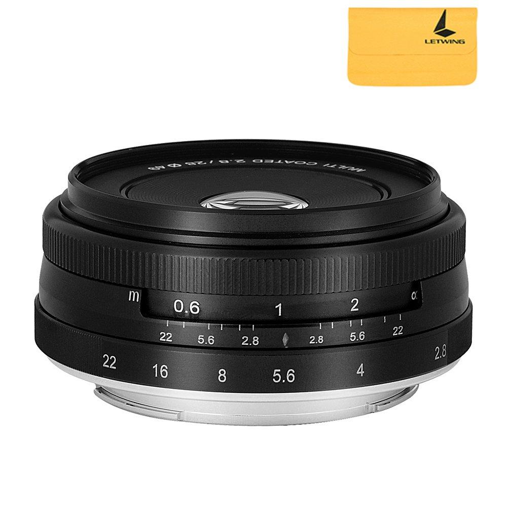 Meike MK-28mm F2.8 Large Aperture Manual Focus Lens for Olympus M4/3-mount EM1/M/M10/EP5/EPL3/PL5/PL6/PL7/PEN-7 by Meike