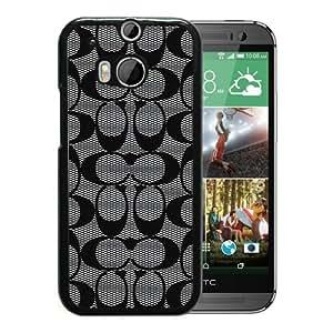 HTC ONE M8 Case,Coach 60(1) Black For HTC ONE M8 Case