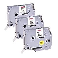 3 LEMERO Rubans Cassettes TZe-231 Compatible Laminé Ruban pour Etiqueteuse Noir sur blanc 12mm x 8m pour TZ Tape Brother P-Touch PT-1000 P700 9500 2430 GL-H100 GL-H105 GL-200 PT-1080 PTE-550WVP PT-P700 PT-H300 PT-1005 PT-1010 PT-1090 PT-1200 PT-1250