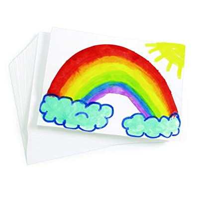 """Colorations Art Paper, Drawing, Painting Paper, Watercolor Painting, Finger Painting, Paint, Arts and Crafts, 9"""" x 12"""", 100 Sheets, Kids Crafts (9UP): Industrial & Scientific"""
