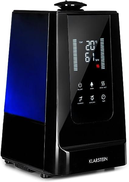 Silenzioso Klarstein VapoAir Purificatore daria Telecomando Vaporizzatore e ionizzatore daria 350 ML//h Umidificatore daria 2 in 1 Serbatoio da 5,5 litri Nero