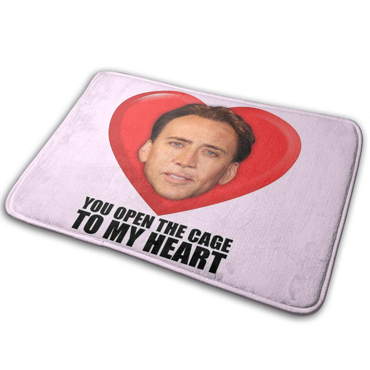 Nicolas Cage You Open The Cage to My Heart Super Absorbent Mat Interior and Exterior Decorative Carpet Doormat Bathroom 40x60