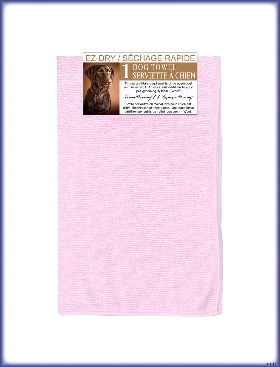 Domay'' Microfiber Pink 2 Pack Pet Towel, One Size