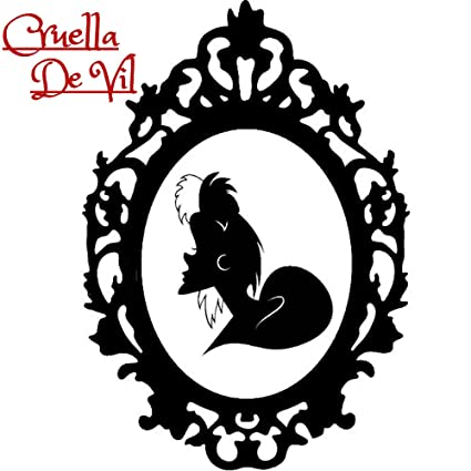 Disney Villain Portrait Halloween Gothic Sticker Evil Queen Maleficent Cruella Jafar Hades Wall Window Home Vinyl Decal Cruella De Vil