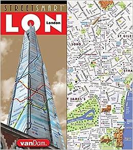 StreetSmart London Map by VanDam  City Street Map of London