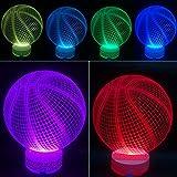 3D Illusion LED Night Lamp Basketball By AZALCO