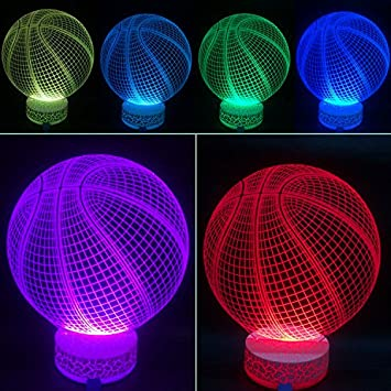Superior 3D Illusion LED Night Lamp Basketball By AZALCO