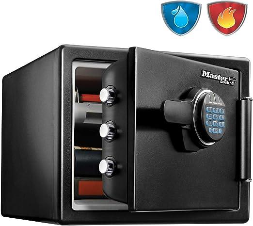 Master Lock Caja Fuerte de Seguridad [Ignifuga y Resistente al Agua] [ Combinación Digital] [Large] -LFW082FTC, Negro: Amazon.es: Bricolaje y herramientas