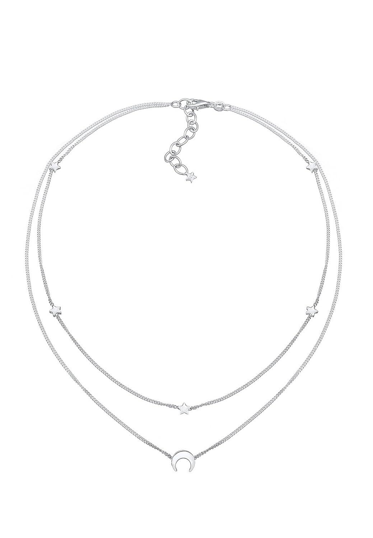 925 Sterling Silber Argent Cristal Collier Court Femme Elli 0102431318/_36