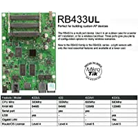 MikroTik - RB433UL - Routerboard , Atheros AR7130, 300Mhz CPU speed, 64MB RAM, 3 LAN ports, 3 MiniPCI, OS Level 4, USB port for storage/3G modem.