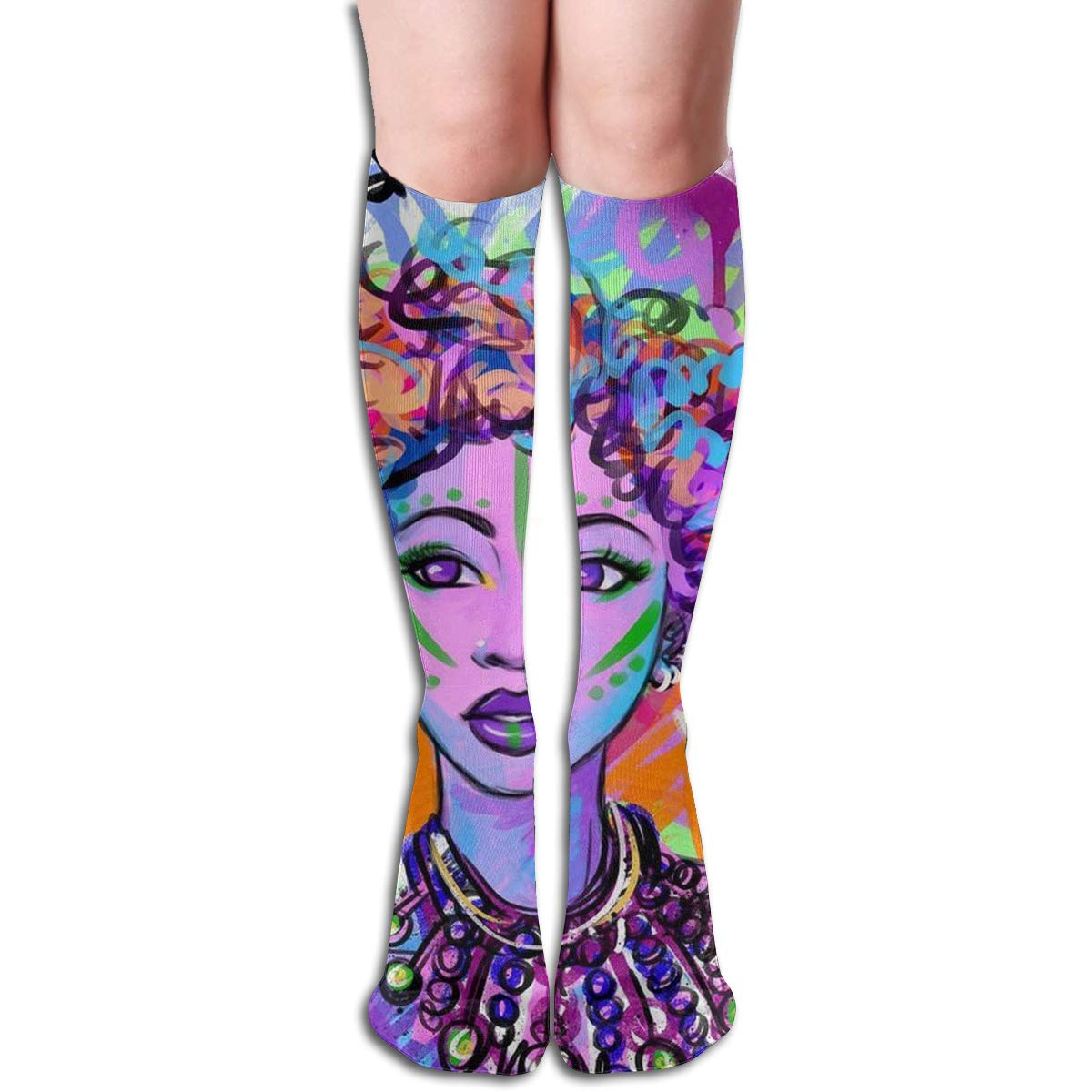 Carolina Panther Drawing Compression Socks For Women Casual Fashion Crew Socks