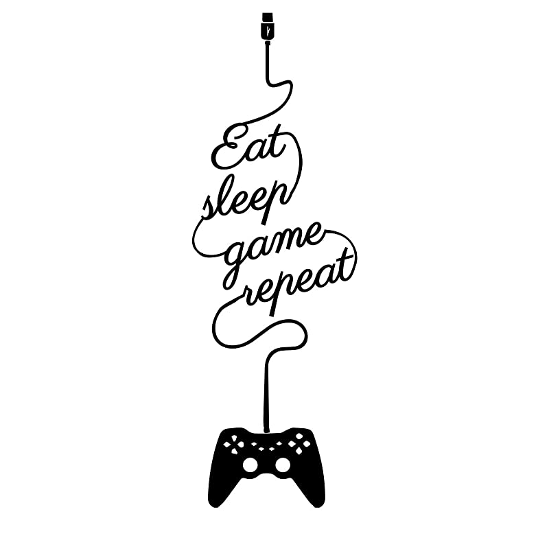 Eat Sleep Jeu Répéter-PS Gamer Wall Art-Décalques//Autocollants-Choix Couleurs