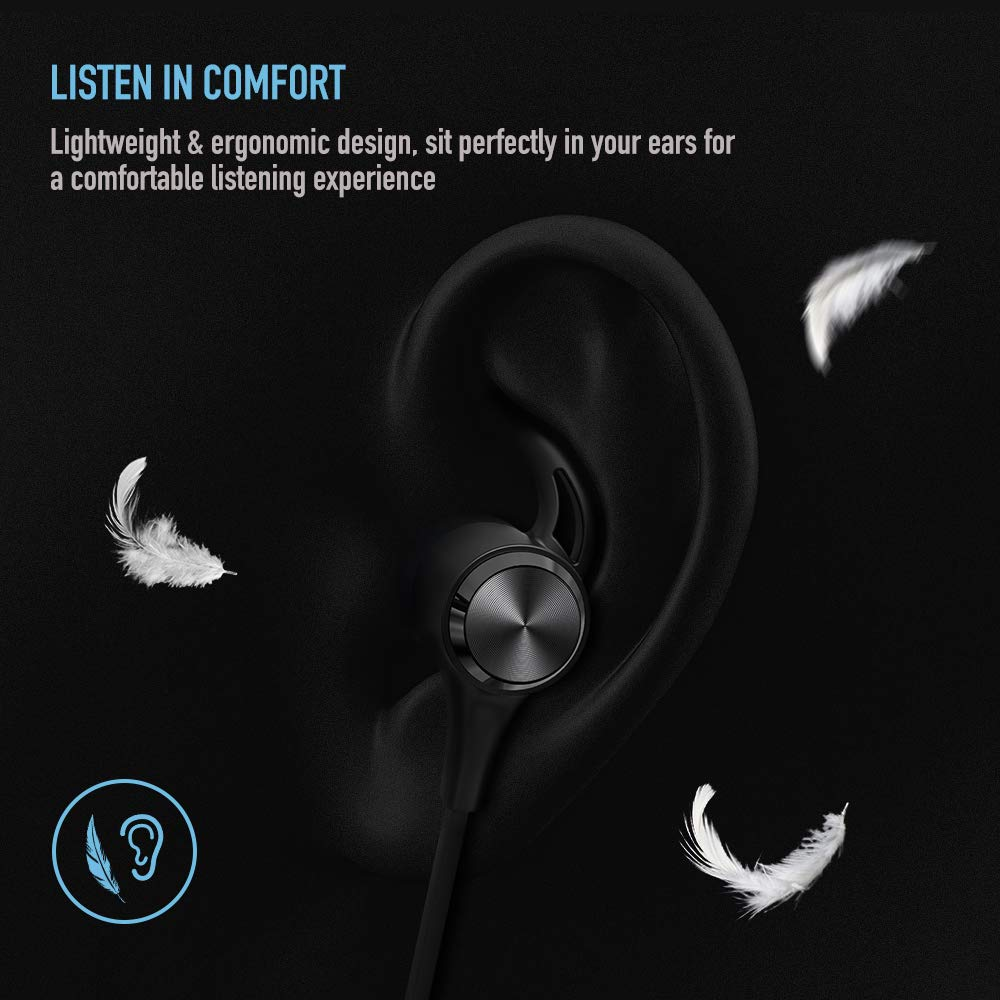 Boltune Wireless Headphones, Bluetooth 5.0 IPX7 Waterproof 16 Hours Playtime Bluetooth Headphones, with Magnetic Connection, Sports Earphones for Running Built-in Mic by Boltune (Image #3)