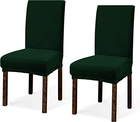 Amazon Com Argstar 2 4 6 Pack Dining Rooms Chairs Covers Velvet Velvet Dining Chairs Slipcover Parson Chair Slipcover Velvet Armless Chair Cover For Dining Room Kitchen Chair Cover Set Of 2 Green Home