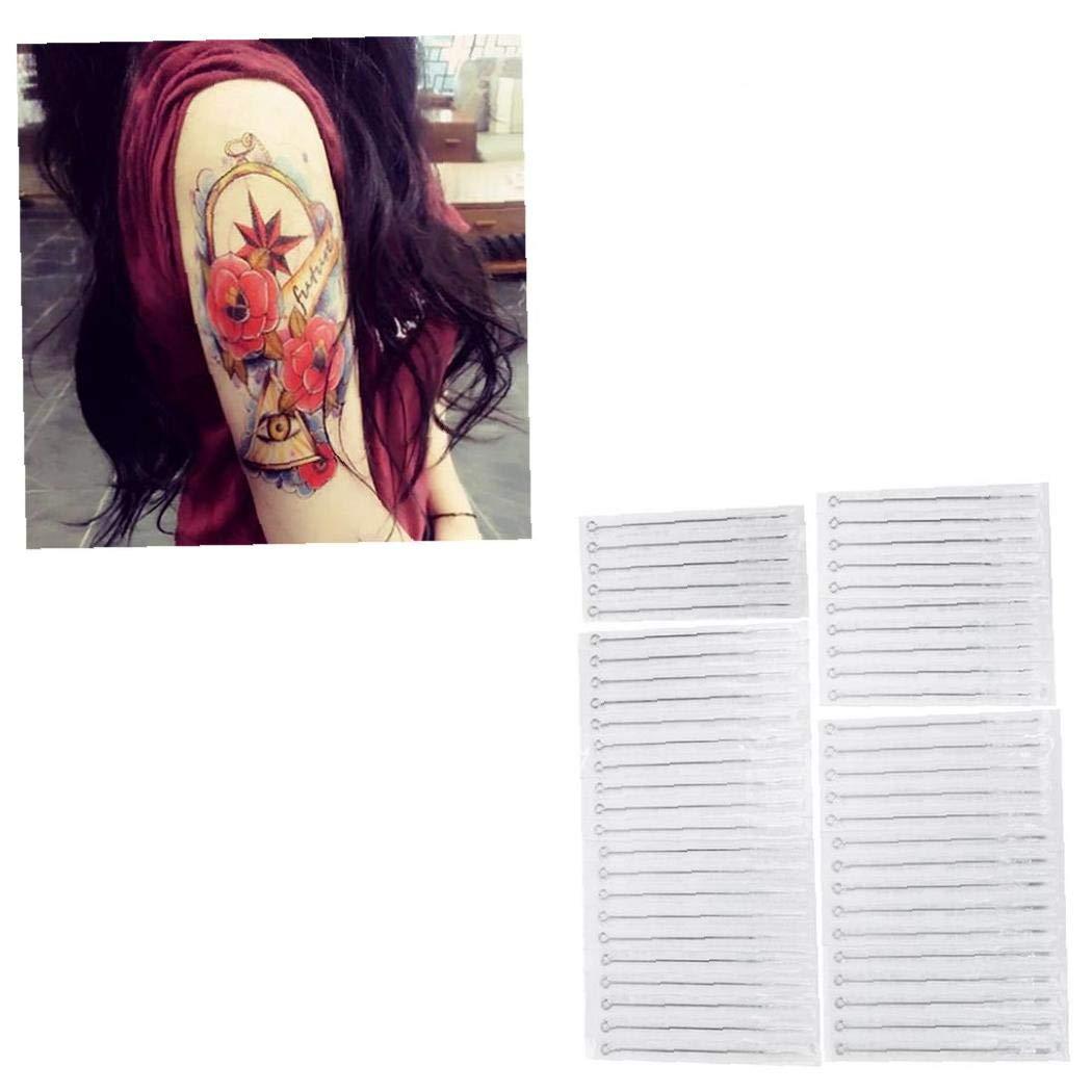 50 PCS Suministros Desechables Tatuaje Agujas De Tatuaje Agujas De ...