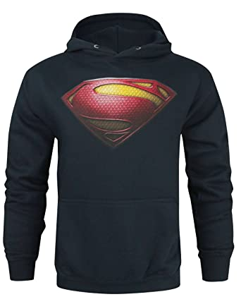 4236d1994b90b Amazon.com  Superman Man Of Steel Logo Men s Hoodie  Clothing