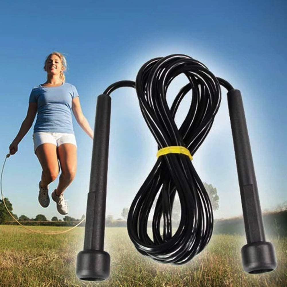Black Aardich Plastic Sports Jumping Rope Pro Speed Rope Skipping Rope Jumping Speed Boxing Exercise Rope Sports products