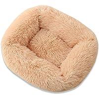 M/W Chunlailiu Pet Nest Soft Plush Kennel Dog Bed Warm House Puppy Cushion (Champagne S)