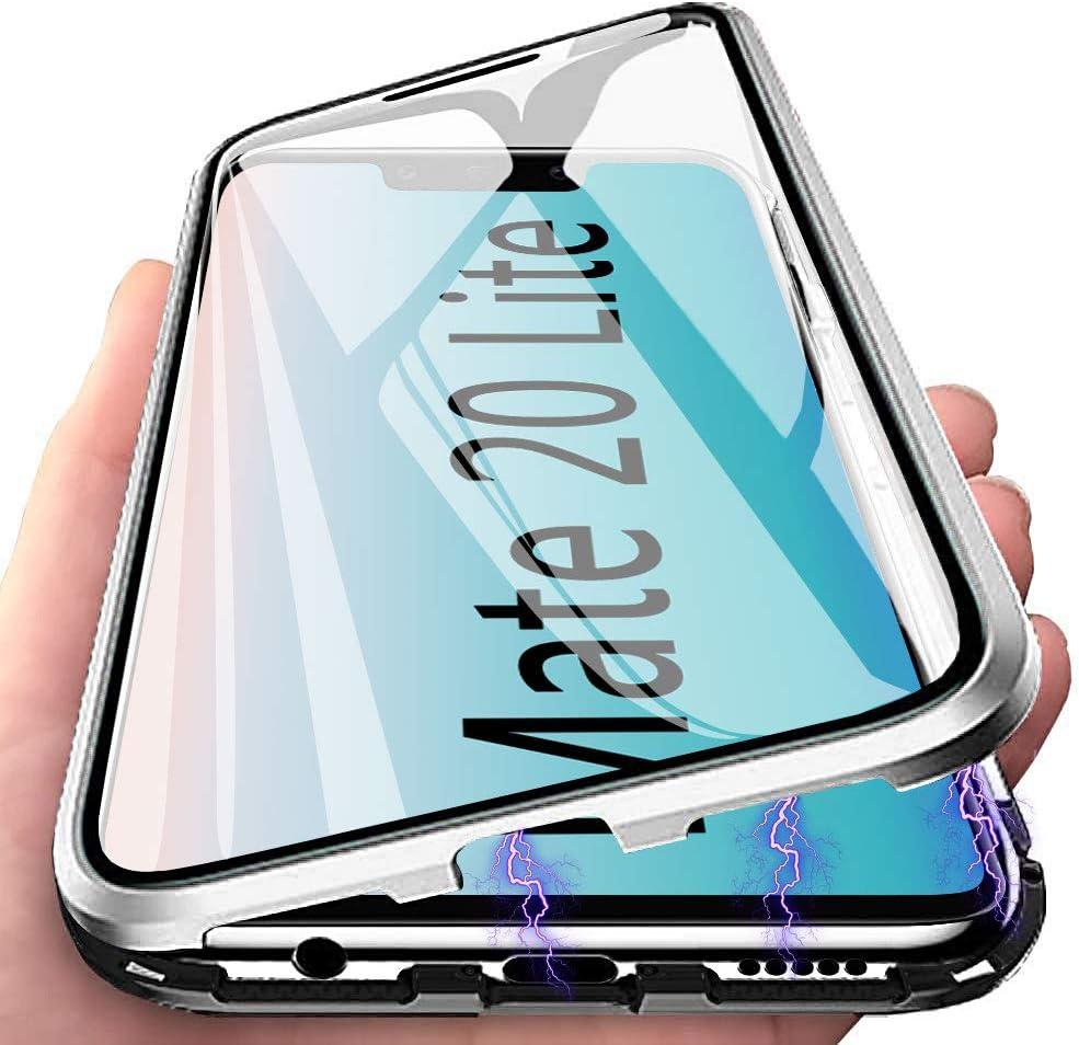 Funda Huawei Mate 20 Lite, Anfire Adsorción Magnética Carcasa, 360 Grados Delantera y Trasera de Transparente Vidrio Templado Case Metal Bumper Cubierta Cover para Huawei Mate 20 Lite, Dinero: Amazon.es: Electrónica