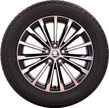 Skoda kodiaq – Rueda para invierno Metal ligero Llanta Trinity en negro de pulido Bridgestone 235