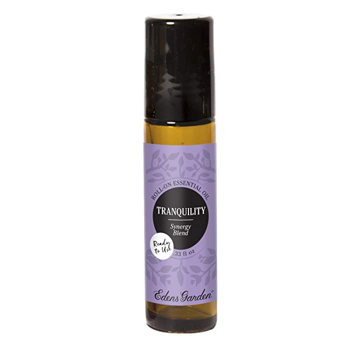Edens Garden Tranquility Essential Oil Synergy Blend, 100% Pure Therapeutic Grade (Pre-Diluted & Ready To Use- Sleep & Stress), 10 ml Roll-On
