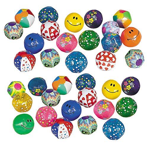 (Fun Express Mega Mini Bulk Beach Ball Assortment (100 pc) 5 Inch Mini Beach Balls)
