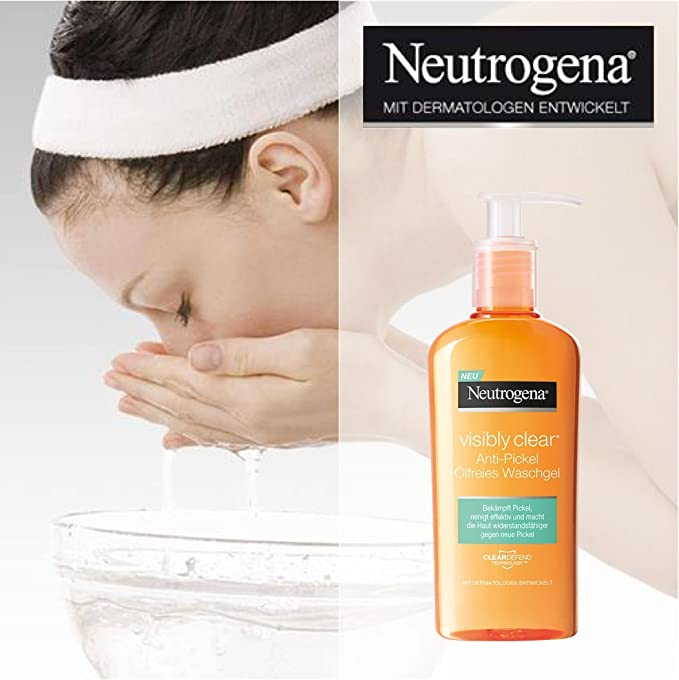 Neutrogena visibly Clear Anti de alpinismo ölfreies waschgel/reinig endes waschgel para la cara para prevención de impurezas & mitessern/2 x 200 ml: ...