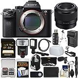 Sony Alpha A7R II 4K Wi-Fi Digital Camera Body FE 50mm f/1.8 Lens + 64GB Card + Backpack + Flash + Video Light + Battery Kit