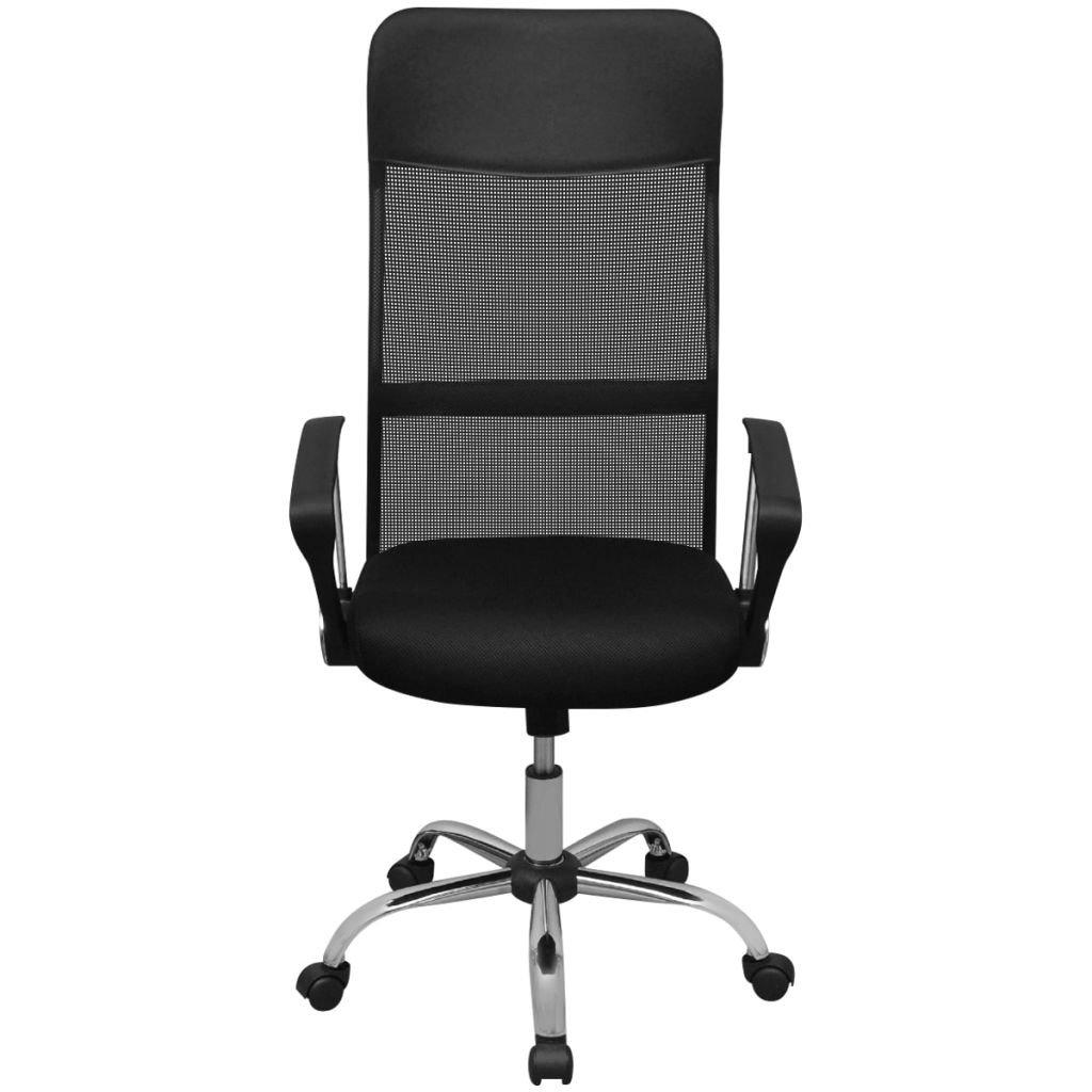 HomeMiYN オフィスチェア オフィス 事務椅子 座面昇降 メッシュ 腰サポート ブラック B07BTD7BZFブラック