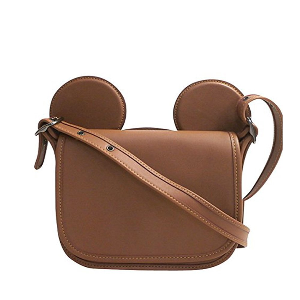COACH PATRICIA SADDLE IN GLOVE CALF LEATHER WITH MICKEY EARS F59369 ANTIQUE NICKEL/SADDLE by Coach