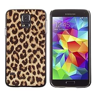 A-type Arte & diseño plástico duro Fundas Cover Cubre Hard Case Cover para Samsung Galaxy S5 (Africa Cat Brown Fur Pattern)