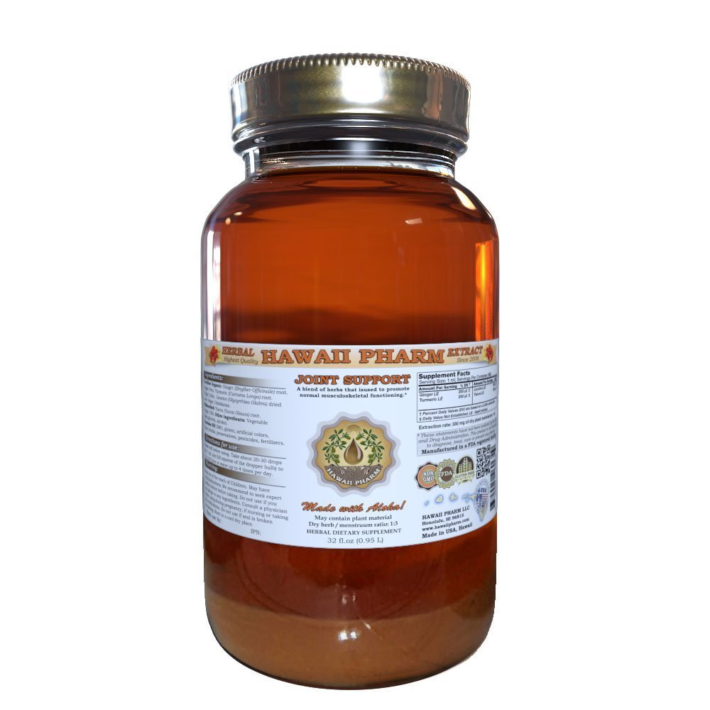 Joint Care Liquid Extract, Organic or Wild Harvested Ginger Tincture 32 oz