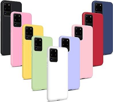 9X Funda para Samsung Galaxy S20 Ultra, Carcasas Flexible Suave TPU Silicona Ultra Delgado Protección Caso(Rojo + Rosa Claro + Púrpura + Amarillo + Rosa Oscuro + Verde + Negro + Azul Oscuro): Amazon.es: Electrónica