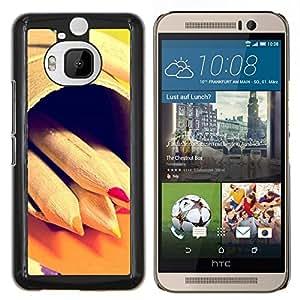 For HTC One M9Plus M9+ M9 Plus Case , Diseño Lápices del creyón del inconformista- Diseño Patrón Teléfono Caso Cubierta Case Bumper Duro Protección Case Cover Funda