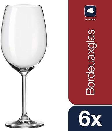 Leonardo Daily 35240 Bordeaux Glasses Set of 6: Amazon.co.uk