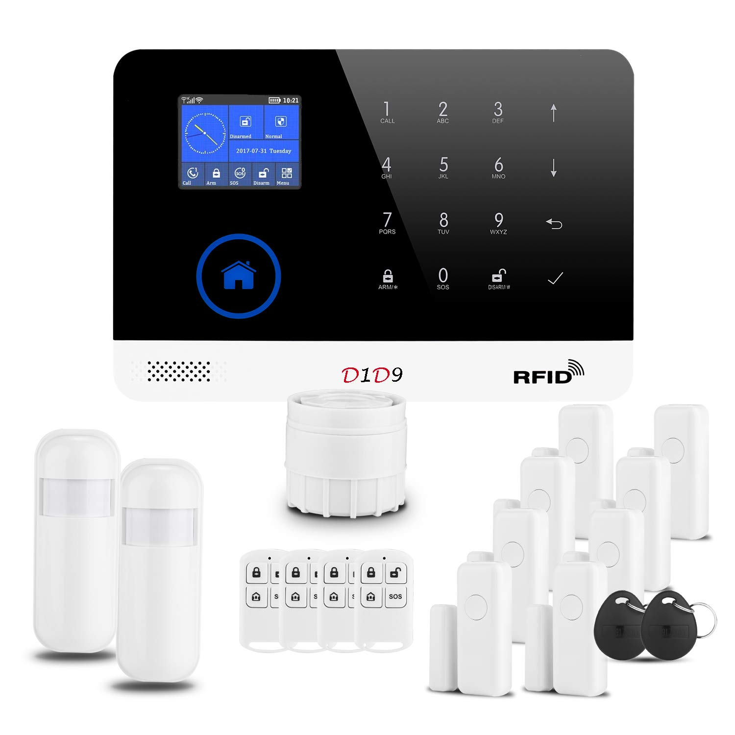 Burglar Alarm System 3G WiFi RFID DIY Wireless GSM for Home Security