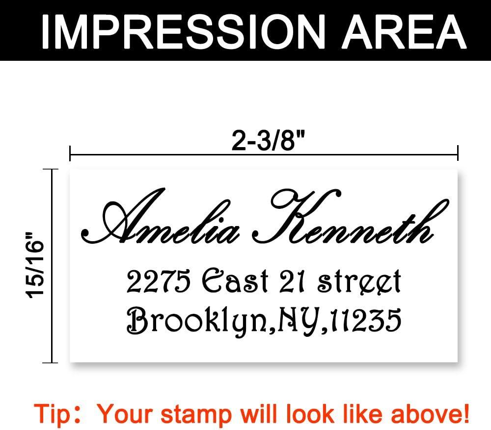 3 linee,coppia indirizzo timbro auto inchiostrazione gomma Personalizzato timbro indirizzo,Timbri autoinchiostranti per timbri indirizzo