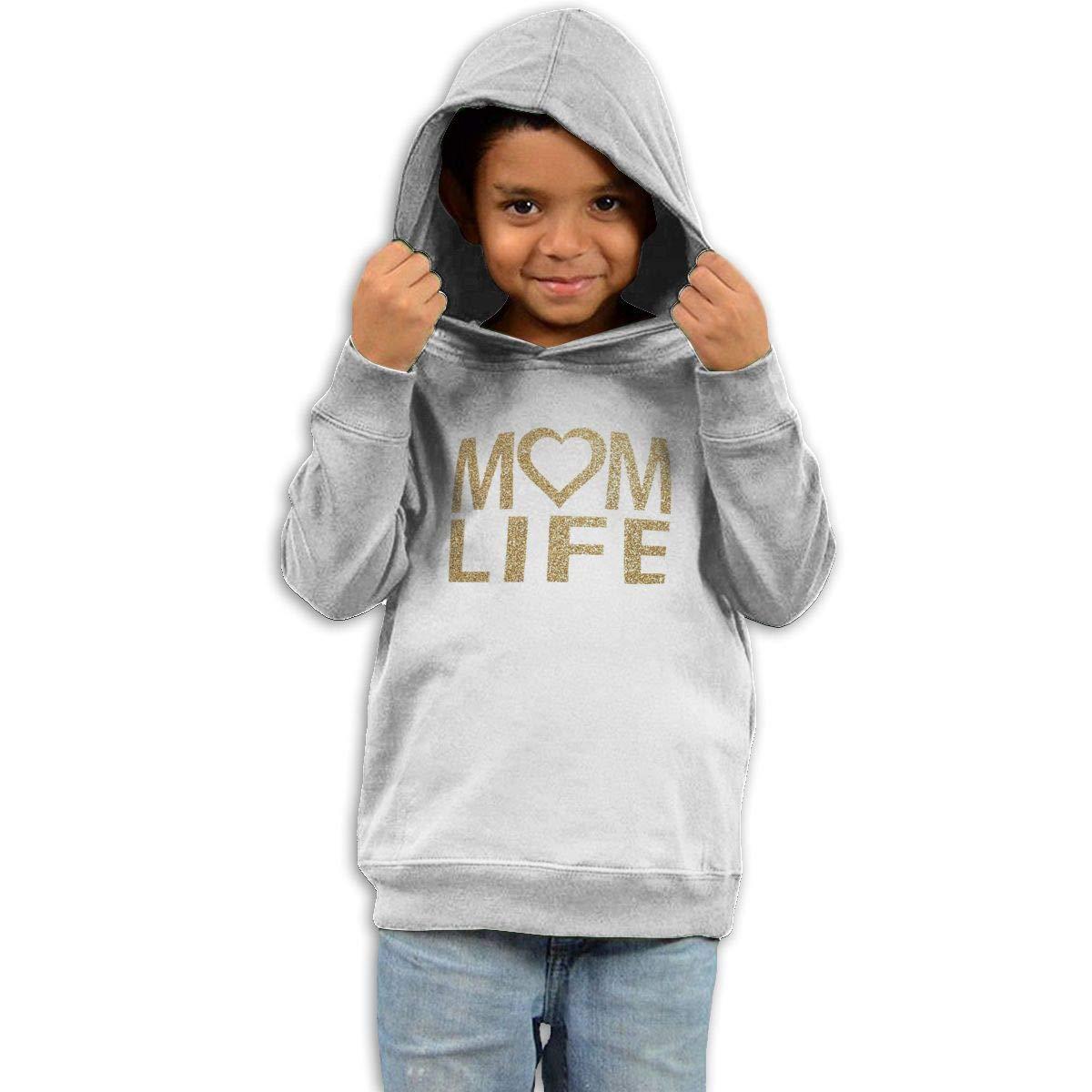 Stacy J. Payne Kids Mom Life Heart Golden Classic Fleece40 White
